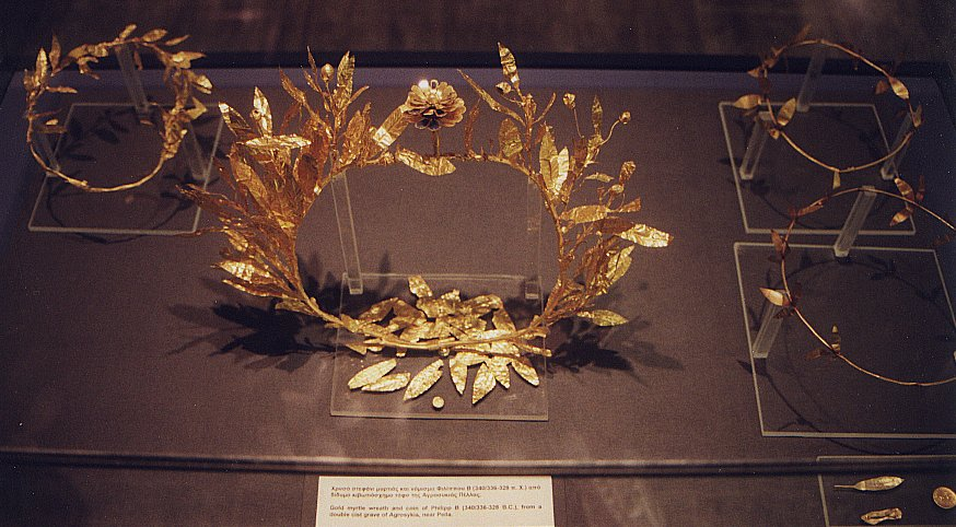 macedonian gold crown