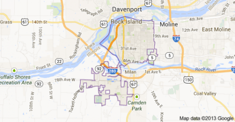 Rock Island, Illinois - Map Locator Social Studies Geography