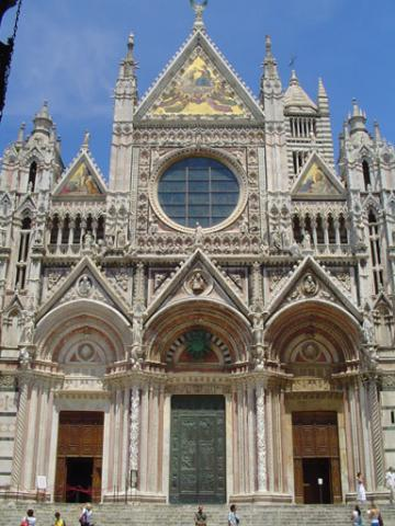 Duomo Siena - Exterior View, Last Supper Window Geography Visual Arts Philosophy