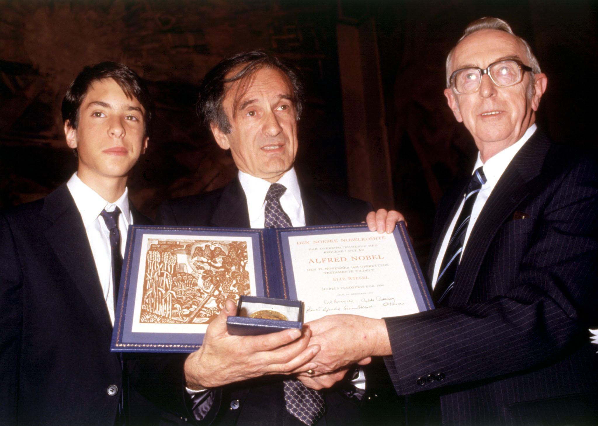 Image result for elie wiesel nobel prize