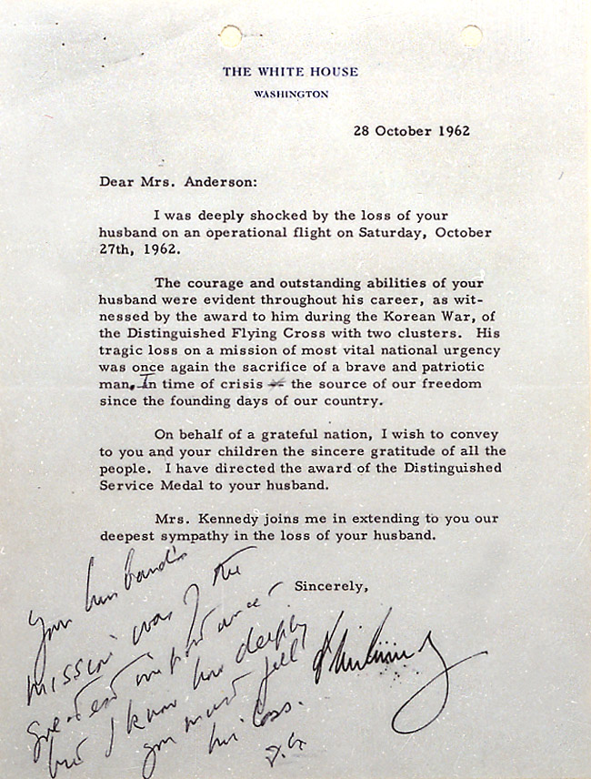 patriotexpressus inspiring jfk letter to widow of major anderson with magnificent thank you acceptance letter for