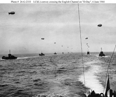 D-Day - Convoy Crossing the English Channel Famous Historical Events Geography World War II Tragedies and Triumphs