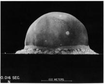 16 Milliseconds After Test-Bomb Explosion