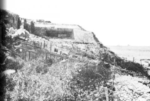 D-Day - German Pillboxes at Omaha Beach Visual Arts Famous Historical Events World War II