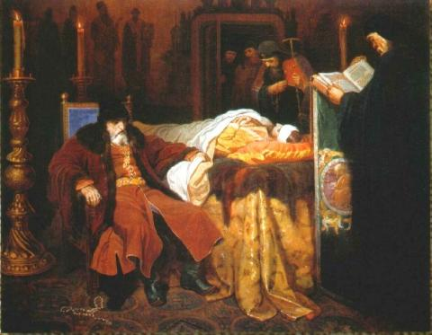 Ivan the Terrible - At the Deathbed of His Son Biographies Famous People Russian Studies History Visual Arts