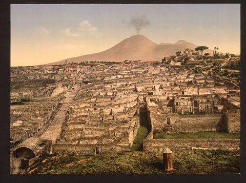 POMPEII IN 79 A.D. (Illustration) Ancient Places and/or Civilizations Archeological Wonders Famous Historical Events World History Disasters