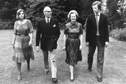 Thatcher Family in 1979 Famous People Law and Politics