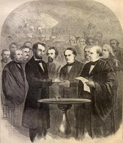 Lincoln - Taking the Oath, Second Inaugural American Presidents American History Government Law and Politics