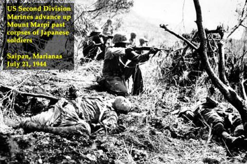 Marines Advance Past Dead Japanese Soldiers American History Geography World War II Tragedies and Triumphs