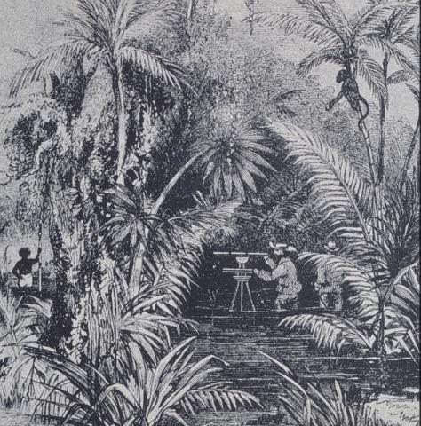 Drawing - Scene at the Isthmus of Panama Geography American History Visual Arts Nineteenth Century Life