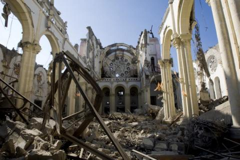 Collapsed Cathedral in Port-au-Prince Disasters Famous Historical Events World History