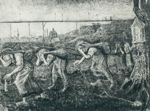 Mining Conditions - Vincent's Drawing Social Studies Visual Arts Nineteenth Century Life Tragedies and Triumphs