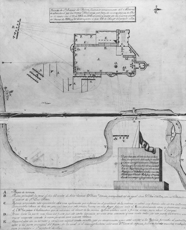 diagram of the alamo mission rh awesomestories com Alamo Schematics diagram of the alamo in 1836