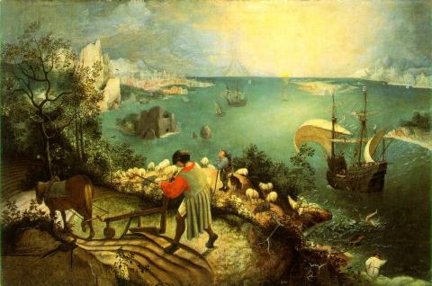 Death of Icarus - By P. Brueghel, the Elder Tragedies and Triumphs Visual Arts