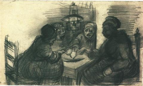Four People Sharing a Meal Social Studies Tragedies and Triumphs Visual Arts Nineteenth Century Life
