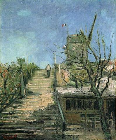 Paris Years - Windmill on Montmartre - 1886 Biographies Famous People Geography Tragedies and Triumphs Visual Arts Nineteenth Century Life