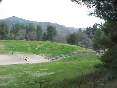 Ancient Olympic Stadium - Finish Line Famous Historical Events Geography Sports Ancient Places and/or Civilizations