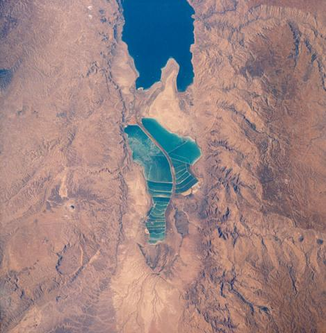 Expanded View of the Dead Sea From Space Social Studies Visual Arts