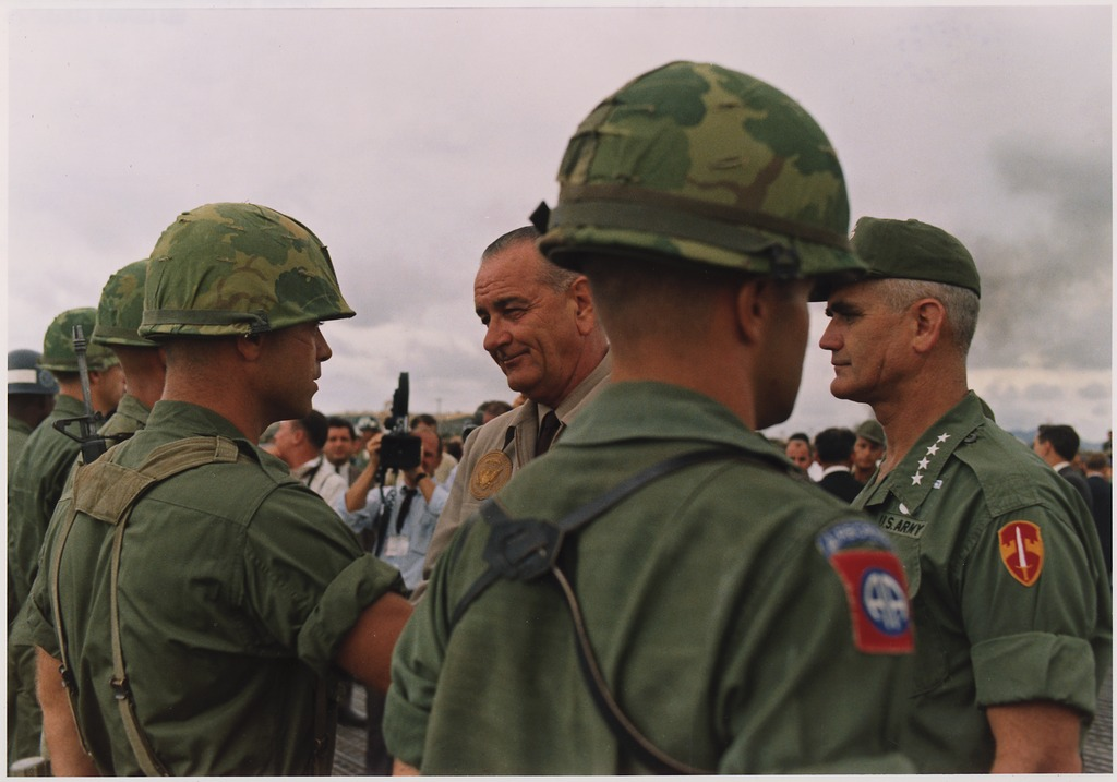 president johnson and general westmoreland