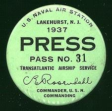 Lakehurst Press Pass - Report on Hindenburg American History Awesome Radio - Narrated Stories Disasters Geography History Social Studies STEM Tragedies and Triumphs Famous Historical Events