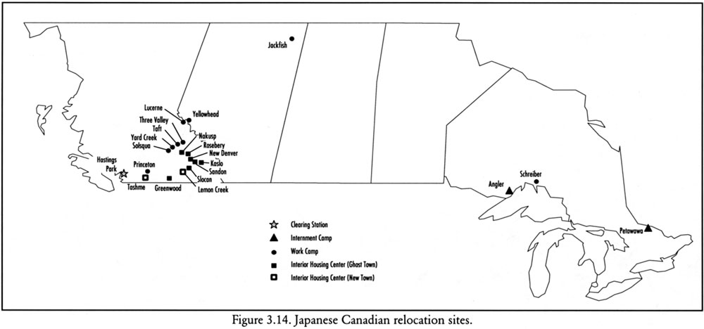 Japanese Canadian Relocation Sites - Map-of-japanese-internment-camps-in-us