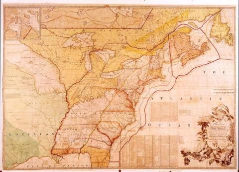 Treaty Map, 1782-America's Most Famous