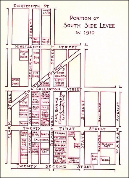 Chicago South Side Levee in 1910
