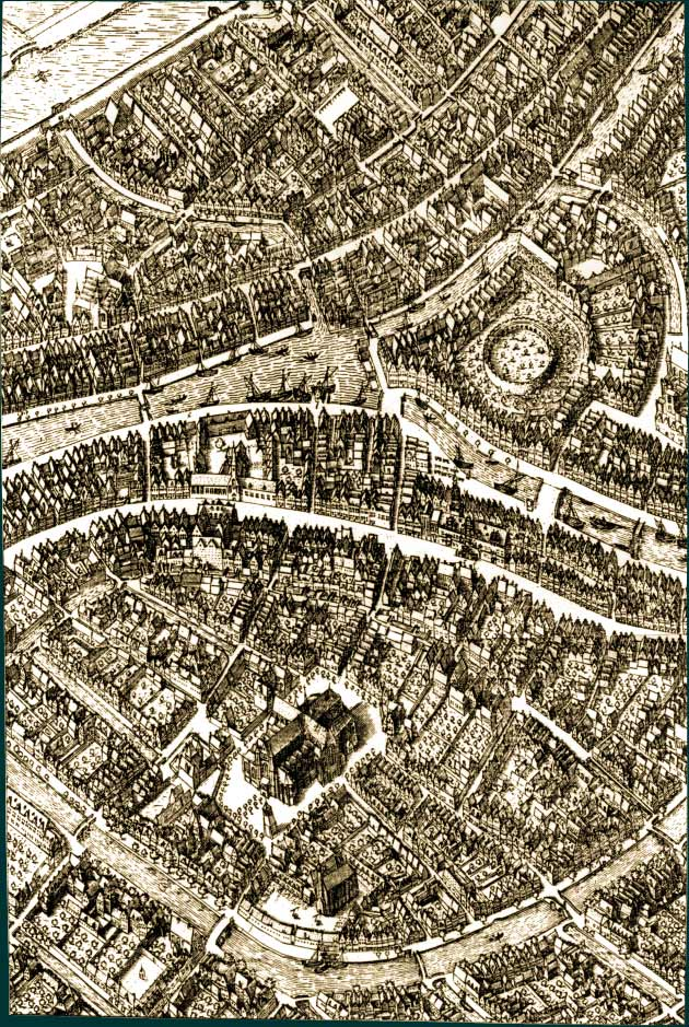 Leiden Map from 1600