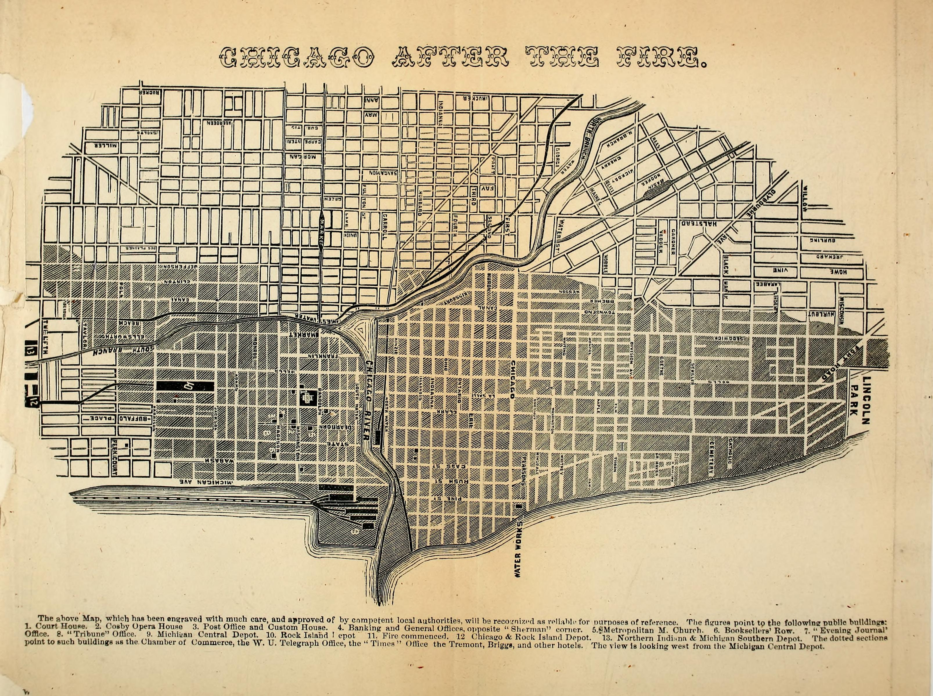 Chicago Fire - Detail of Burnt District