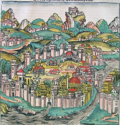 Constantinople - Medieval View Ancient Places and/or Civilizations Geography World History Medieval Times
