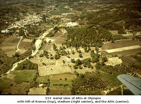 Aerial View of Altis at Olympia Geography Social Studies Sports Visual Arts Ancient Places and/or Civilizations