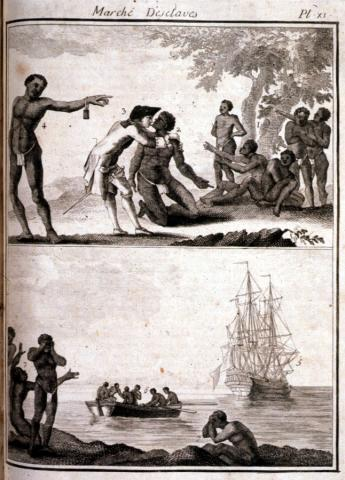 PASSAGE TO THE NEW WORLD (Illustration) American History Biographies African American History Civil Rights Law and Politics Tragedies and Triumphs Ethics Social Studies Slaves and Slave Owners