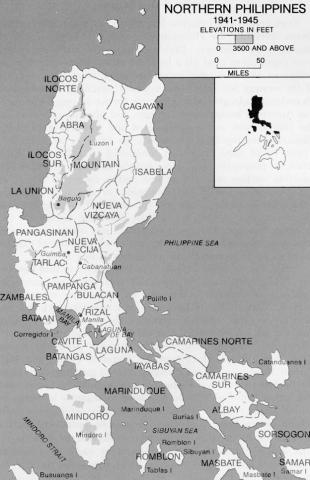 Map Showing Cabanatuan Social Studies World War II Geography