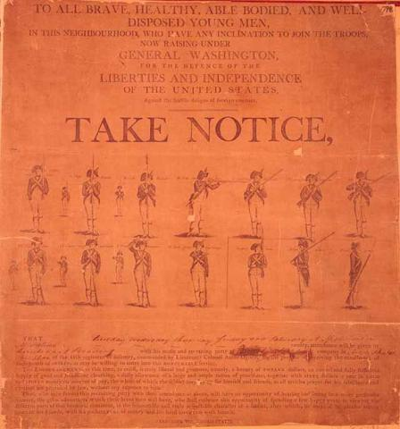 Recruiting Poster  Government Law and Politics Nineteenth Century Life Social Studies Tragedies and Triumphs American History