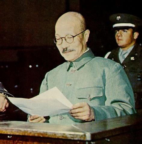 Tojo During Trial for War Crimes Famous People Tragedies and Triumphs World War II Crimes and Criminals
