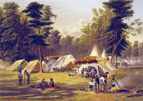 CAMP LIFE (Illustration) Famous Historical Events Social Studies Visual Arts Nineteenth Century Life Civil Wars Geography American History