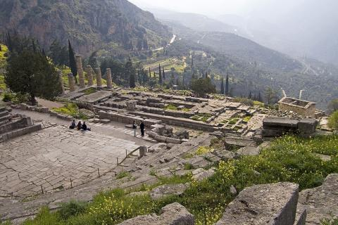 Ruins of Delphi Archeological Wonders Ancient Places and/or Civilizations Geography History Social Studies World History