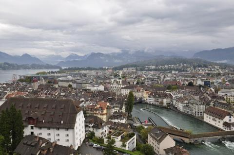 Lucerne, Switzerland - View of the City History Social Studies Geography Visual Arts