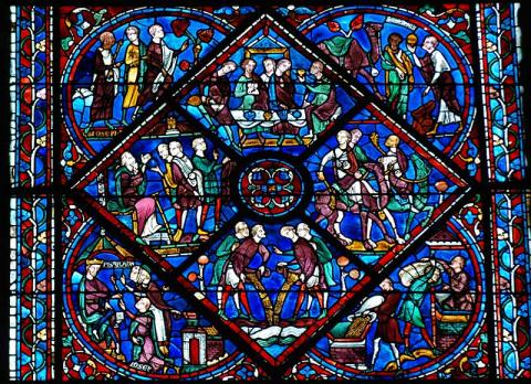 Joseph Window, Chartres Cathedral Medieval Times Philosophy Visual Arts
