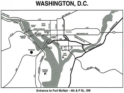 Ft. McNair - Map Locator Visual Arts American History Famous Historical Events Government