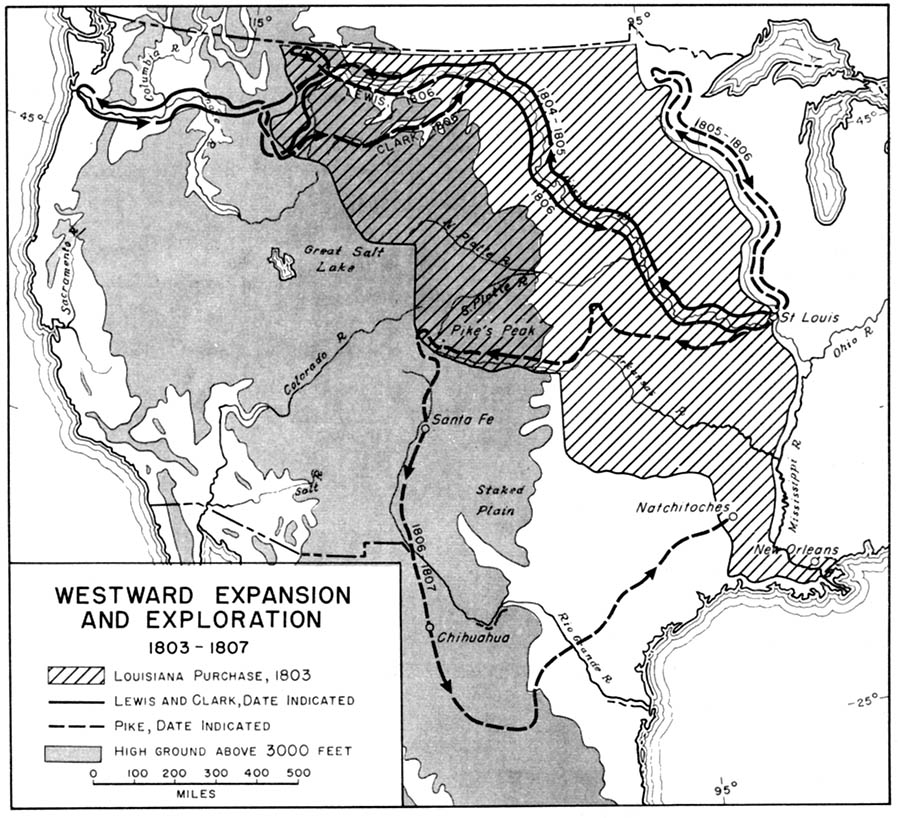 Map Depicting Westward Expansion And Exploration - Us westward expansion map