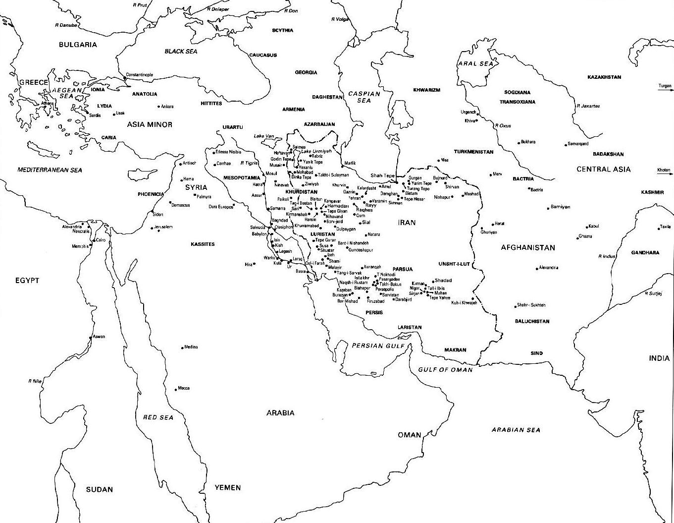 Colouring in world map - Ancient World Map Ancient Places And Or Civilizations Geography World History