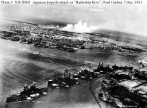 Pearl Harbor - Torpedoes Heading for Battleship Row