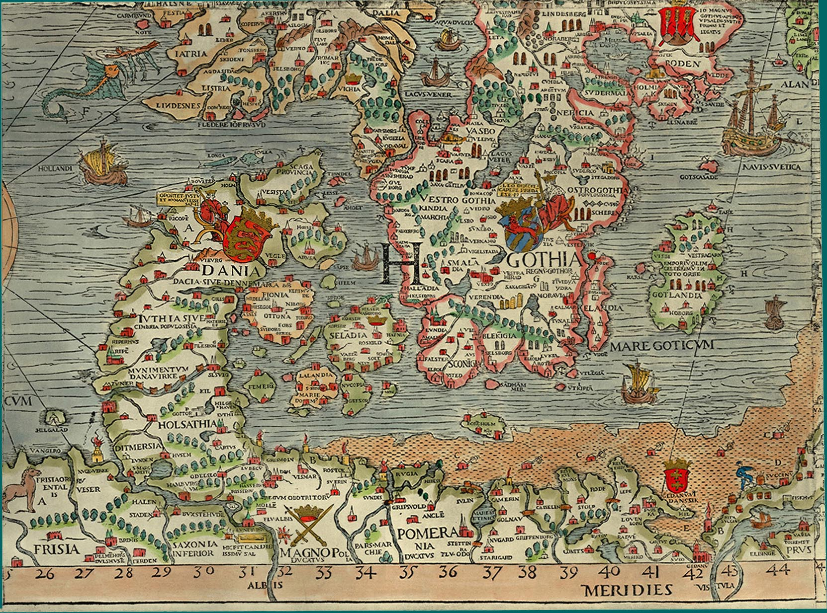 Scandinavia First Known Map - Map of scandinavia