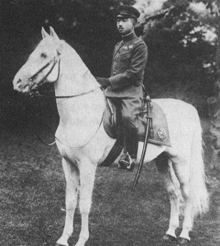 Emperor Hirohito - On Hatsu Shimo, His White Horse Film Social Studies Visual Arts World History World War II Famous People