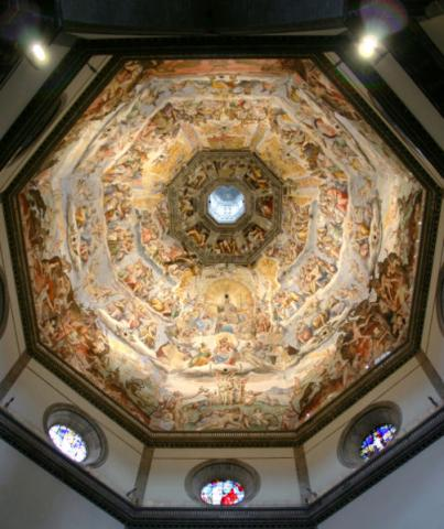 Florence - Frescoes on the Cathedral Dome Geography Medieval Times Philosophy Visual Arts