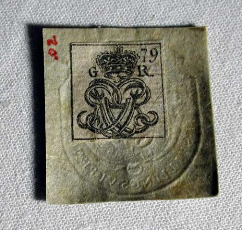 Tax Stamp-British Revenue (1765-1766)