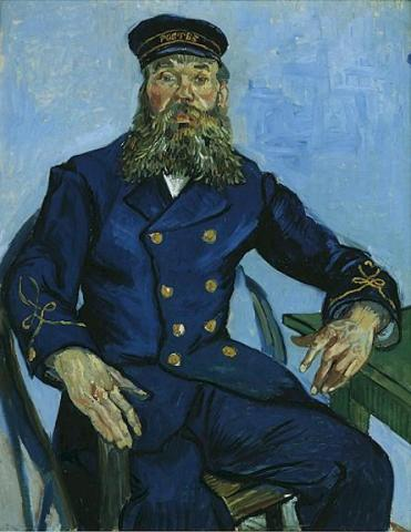 Portrait of the Postman Joseph Roulin Famous People Social Studies Visual Arts Nineteenth Century Life