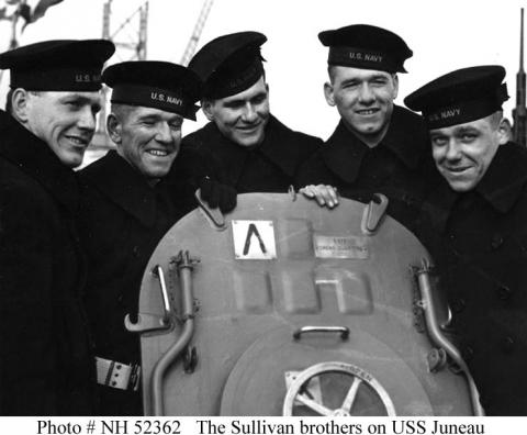 Brothers Aboard Ship-The Five Sullivan Brothers