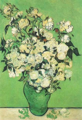 Pink Roses in Vase - Vincent van Gogh Tragedies and Triumphs Visual Arts Nineteenth Century Life Famous People